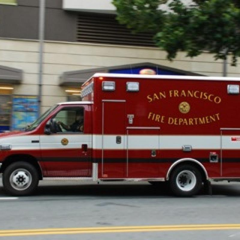 EMS Training - image of ambulance enroute to a medical emergency